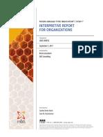 Interpretative report for organizations. Myers Briggs Type Indicator