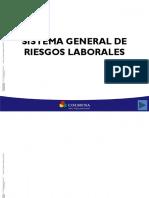 Sistema General de Riesgos Laborales Ley 1562 de 2012