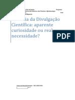 História da Divulgação Científica