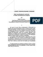 Etudes de Droit Constitutionnel Compare Droit Constitutionnel Americain Et Droit Constitutionnel Europeen