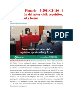 Acuerdo Plenario Constitución Del Actor Civil