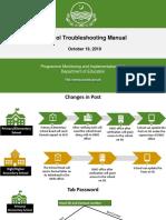 1 School Troubleshooting Manual (Presentation)