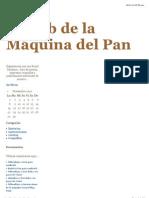 El club de la Máquina del Pan RECETAS