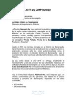 Acta de Compromiso Pumarejo