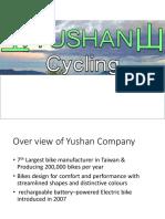 Yushan Bicycles Analysis
