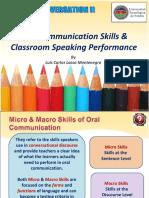 Communication skill in english skill
