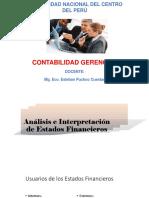 Diapositiva de Contabilidad Gerencial -  (P-7) Análisis e interpretación de los estados financieros.pptx