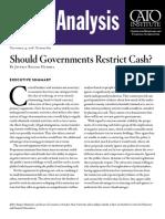 Should Governments Restrict Cash?