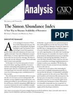The Simon Abundance Index