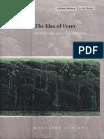 Rodolphe Gasche the Idea of Form Rethinking Kants Aesthetics