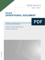 IECEE OD-5014 Límites de Exactitud de Instrumentos