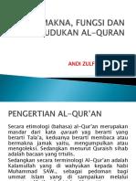 Makna, Fungsi Dan Kedudukan Al-quran
