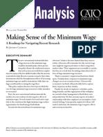 Making Sense of the Minimum Wage
