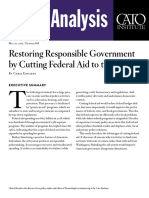 Restoring Responsible Government by Cutting Federal Aid to the States