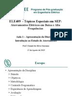 Tópicos Especiais Em SEP - Aula 1 2019-2