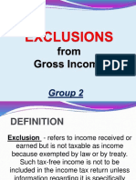 Group 2 Exclusion From Gross Income