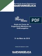2019-1 - III Anais Do Curso de Engenharia Mecânica
