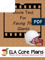 Facing the Giants Movie Watching Guide and Test