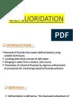 PPT Defluoridation