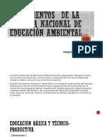 Lineamientos de La Política Nacional de Educación Ambiental