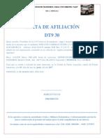 Carta de Afiliaciones Desde 31 Al 60 Enero 2019