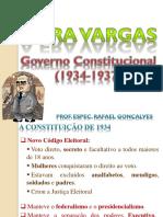 Cap - 6 O Governo de Getúlio Vargas - Período Constitucional