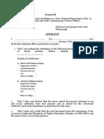 Affidavit for Saudi Format
