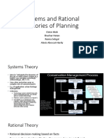 Systems and Rational Theories of Planning