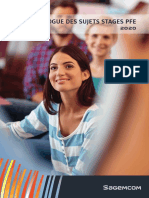 Catalogue de Stage PFE-2020