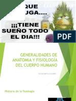 Generalidades de Anatomia y Fisiología Del Cuerpo Humano