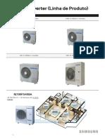 Multi split dados tecnicos instalação
