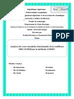 Analyse des sous-ensembles fonctionnels de la souffleuse SBO 105028 par la méthode AMDEC
