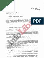 Escrito de la Fiscalía que archiva la denuncia de Más Madrid contra Díaz Ayuso y Avalmadrid