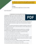 2. Analizar Un Artículo Referente a La Importancia de La Gestión Documental en Idioma Inglés.