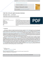 Cash Flow Risk and Capital Structure Decisions