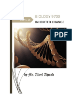 Biology 9700 Notes Topic 16 Inherited Change 2019-20