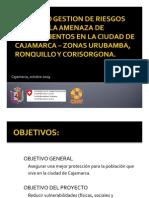 Gestión de riesgos por precip...slizamientos en Cajamarca