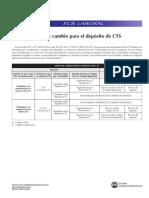 Tc. Deposito de Cts