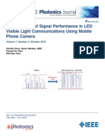 Enhancement of Signal Performance in LED VLC Using Mobile Phone Cam