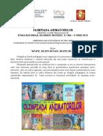 1 Program OA Etapa Nationala 2018