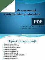 Tipuri de Concurență Existente Între Producători