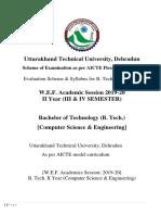 B Tech II Year CSE Syllabus 2019 20