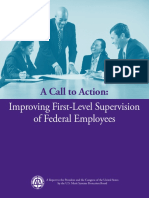 A Call to Action- Improving First-Level Supervision of Federal Employees