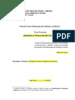 Modelo de Projeto Monografia 2019.2