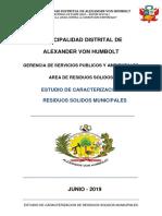 Estudio de Caracterizacion de Residuo Solidos