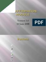 CCI Affirmation Module PS