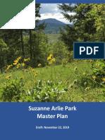 Suzanne Arlie Park Master Plan Draft 11-22-2019