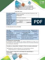 Guía de actividades y rúbrica de evaluación - Fase 4 - Elaboración del plan de manejo ambiental