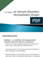 Drugs for Seizure Disorders Antiepileptic Drugs