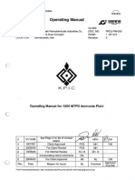 01-Operating Manual for 1200 MTPD Ammonia Plant.pdf